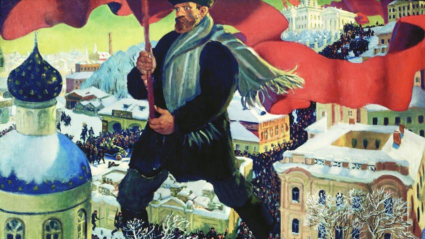 Bolschewik von Boris Kustodijew, 1920