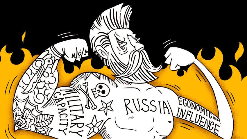 Макар че военният и политически капацитет на Русия си остават безспорни, икономическото ѝ влияние изостава.