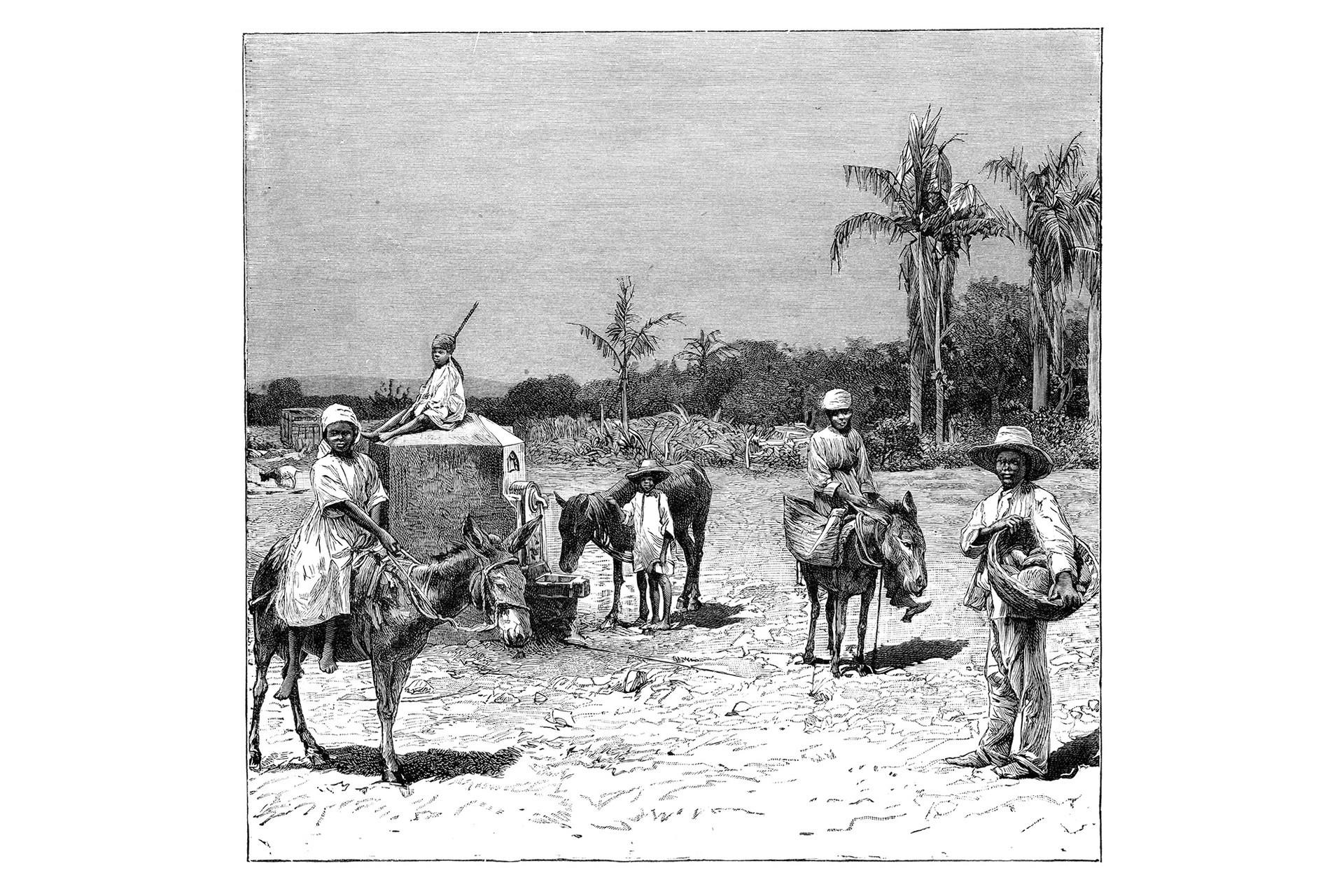 Grupo de haitianos. Circa1890.