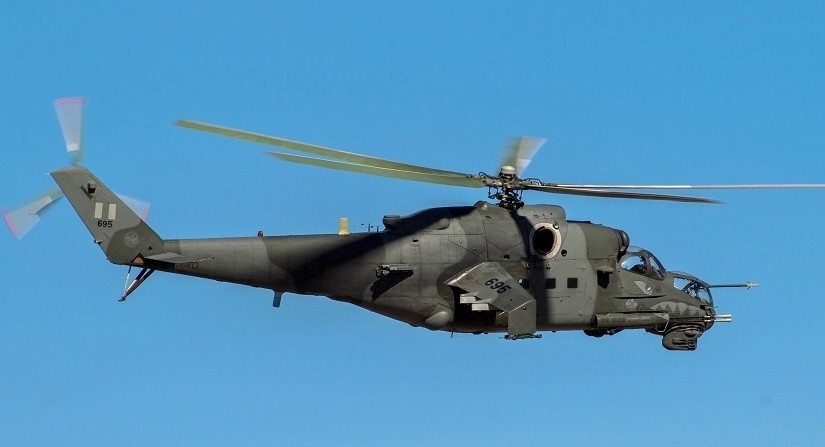 Helicóptero Mi-35P da Força Aérea do Peru.