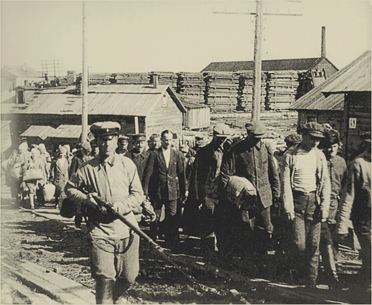 The Solovki prison camp (SLON), 1927-1928.