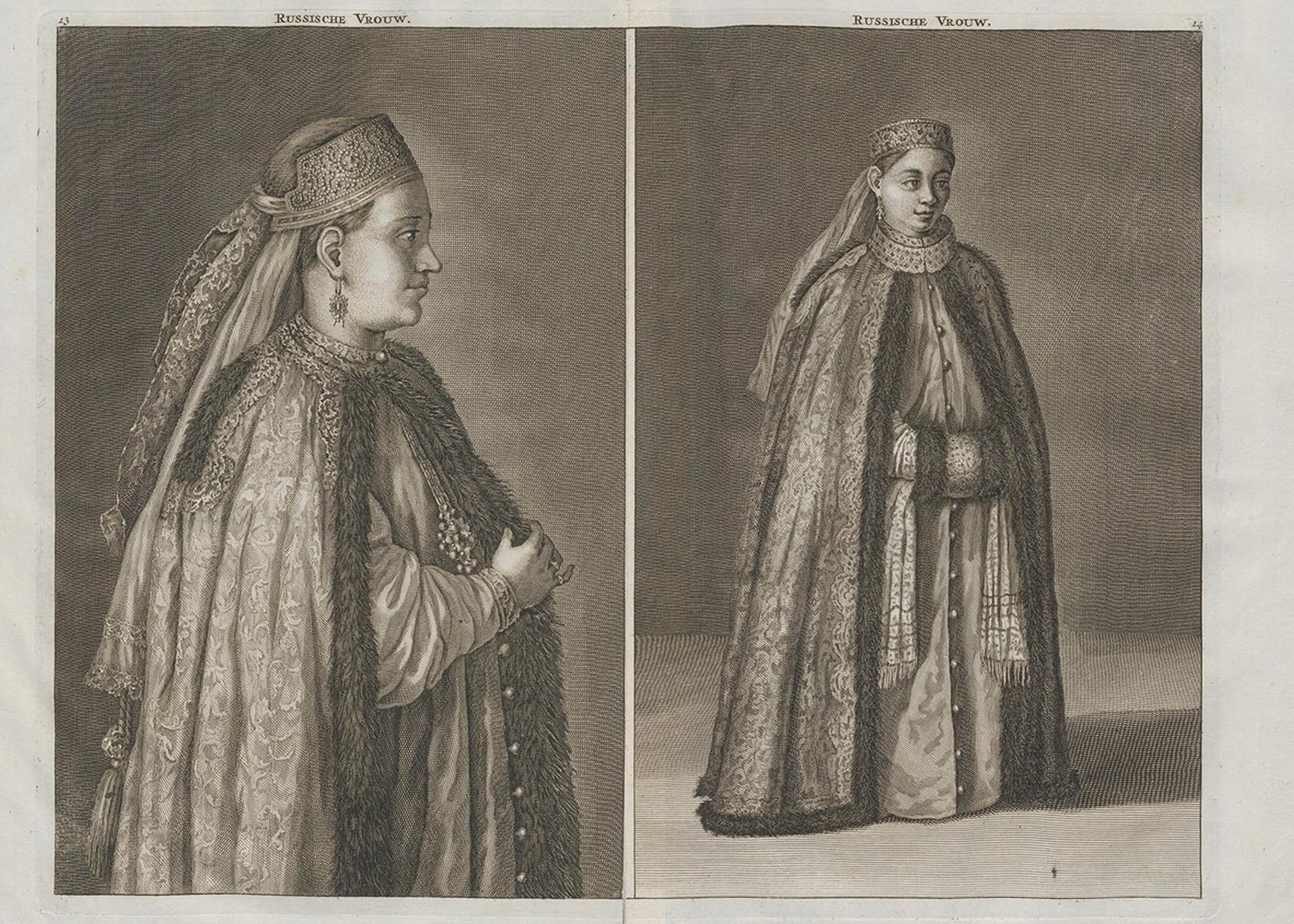 「ロシアの女性」、1711年。
