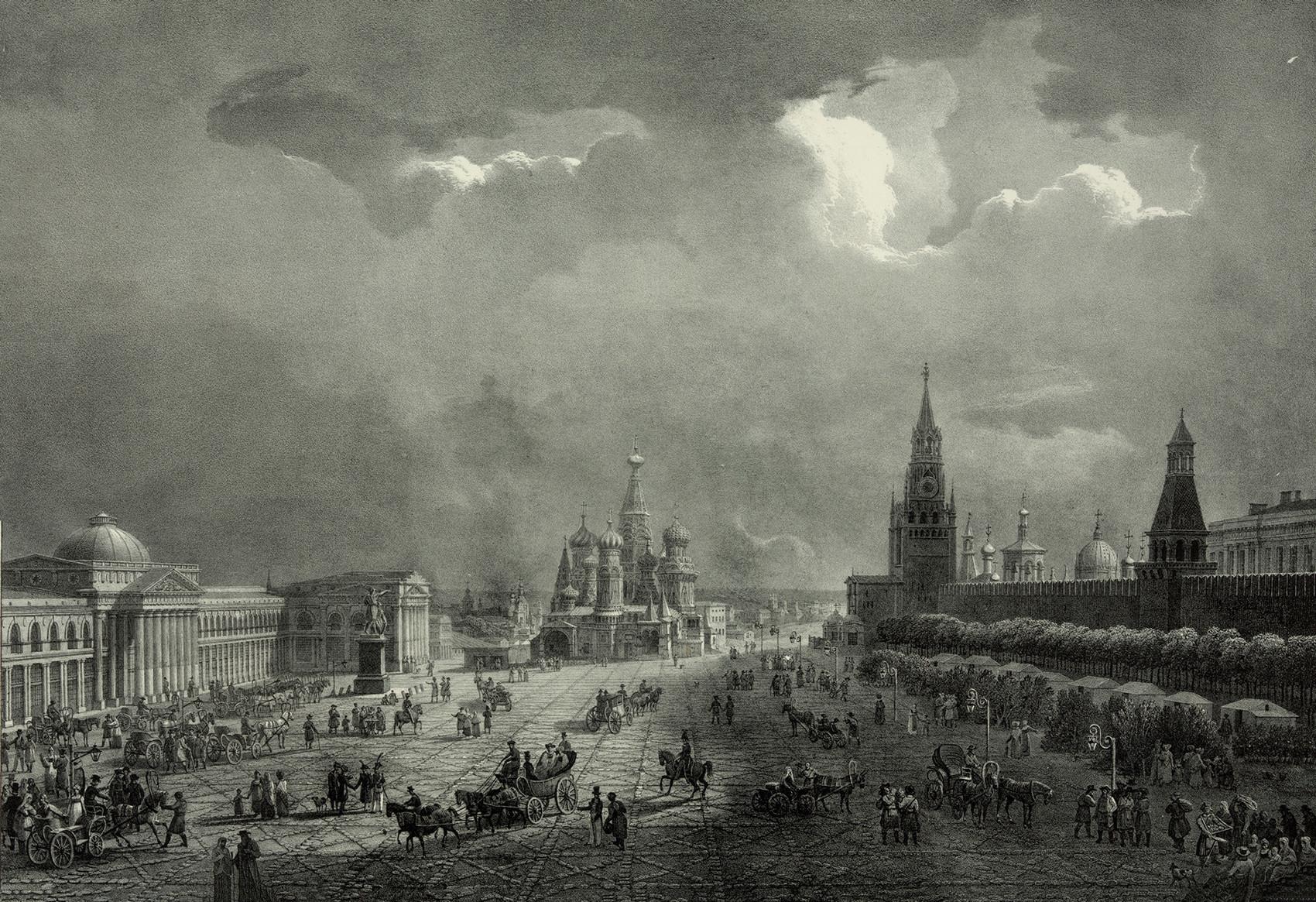 1830年。モスクワ、赤の広場。