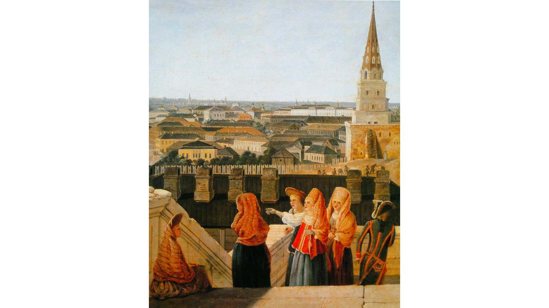 1797年。皇帝の宮殿の右側からから見たモスクワ。デラバルトの絵のもとで作られたF.ロリエ (あるいはM.エイフレル)の版画。