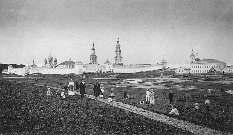 Die Stadt Kaljasin vor der Überschwemmung