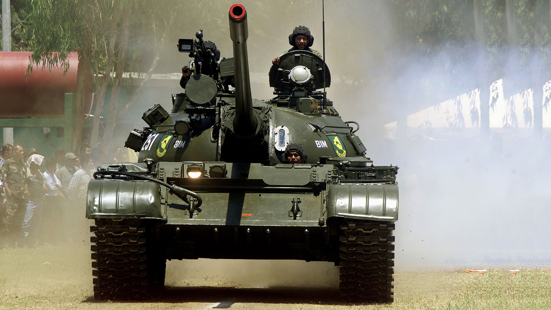 Tanque T-55 de Nicaragua.