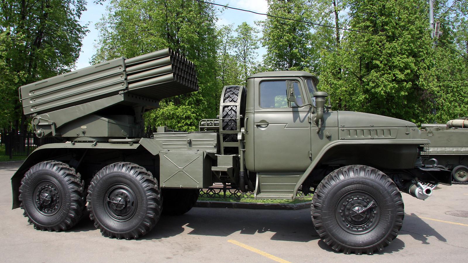 Sistema múltiple de lanzamiento de cohetes BM-2 Grad.
