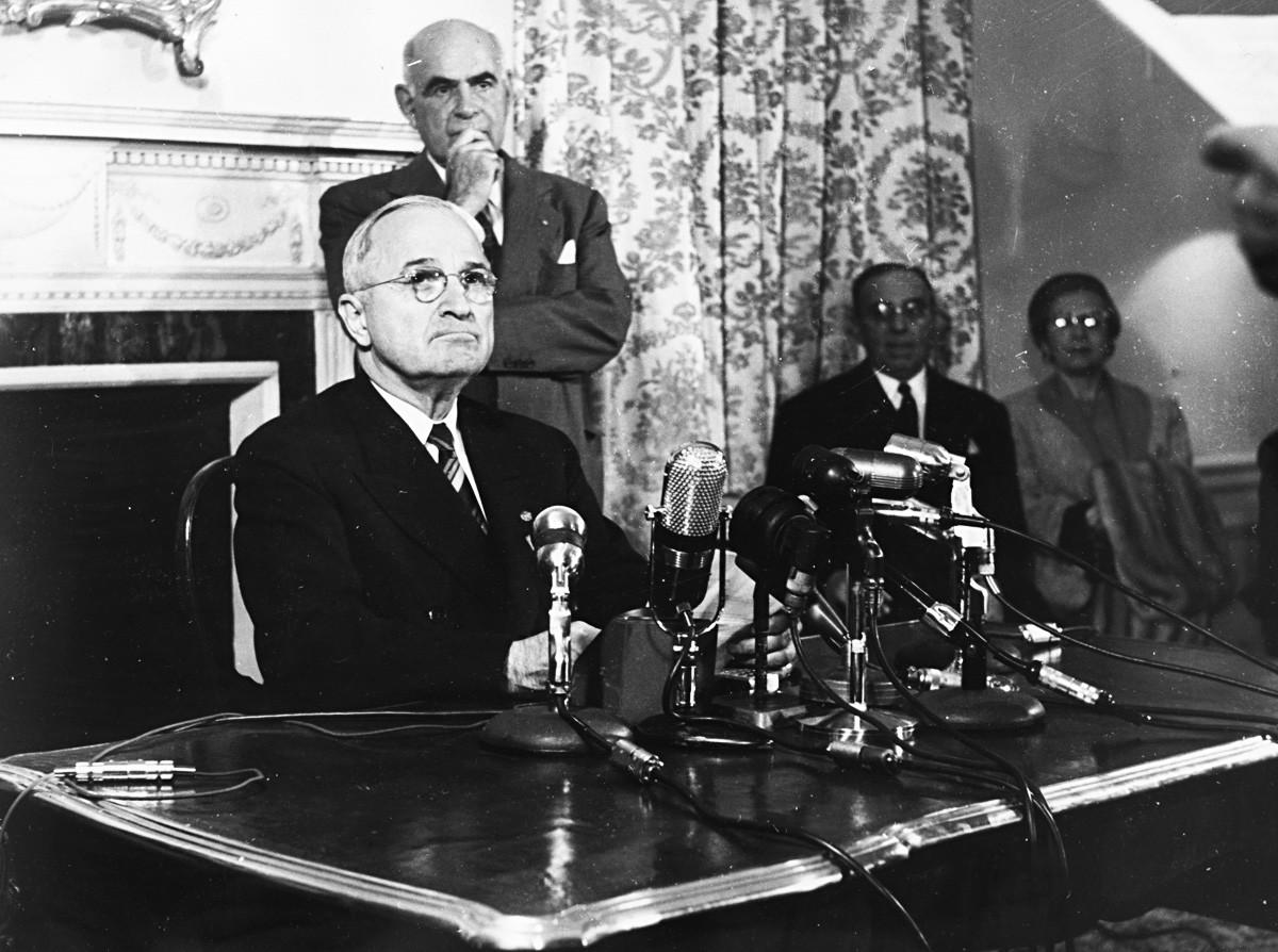 Harry. S. Truman.