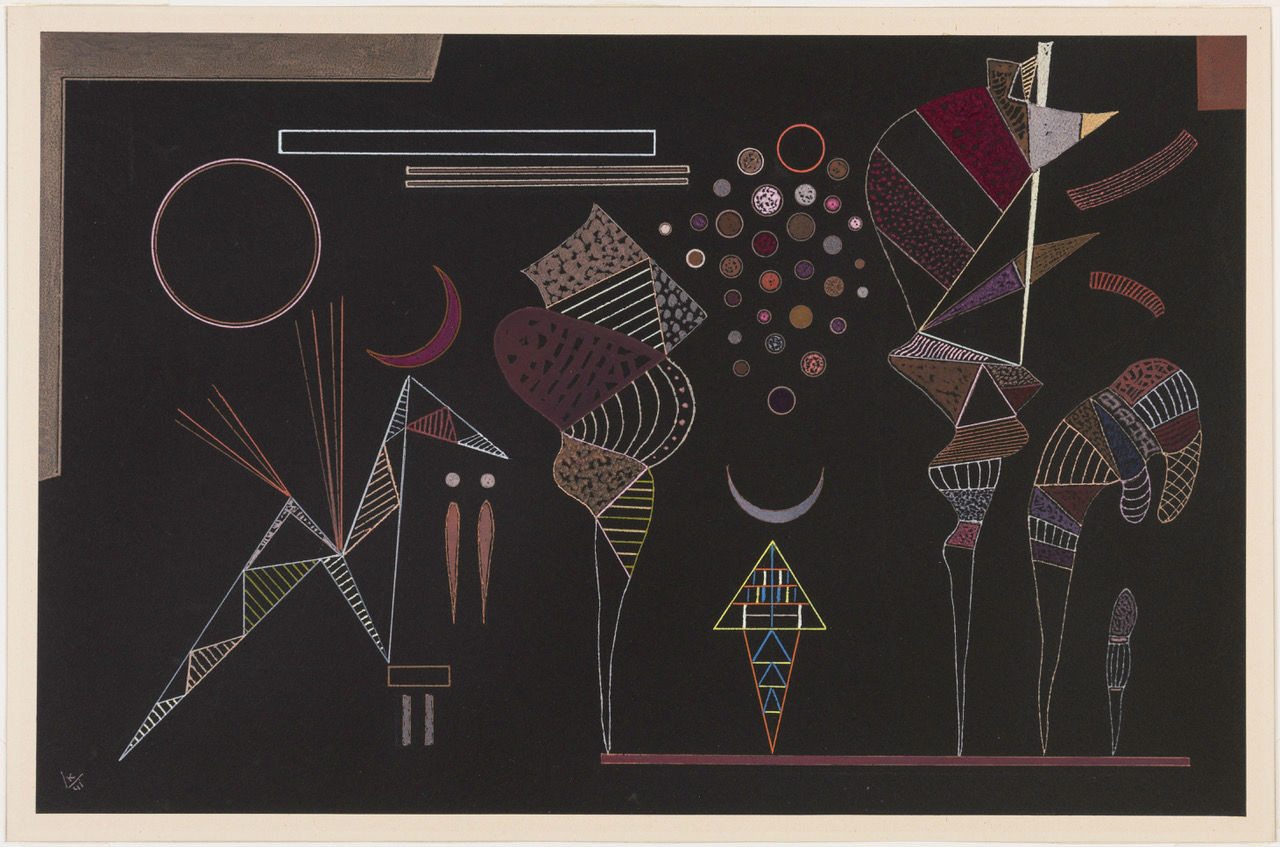 Étude pour contrastes réduits par Vassily Kandinsky, 1941
