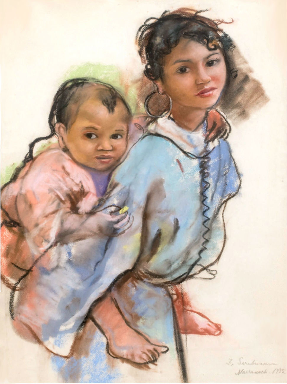 Mère et enfant par Zinaïda Serebriakova, 1932