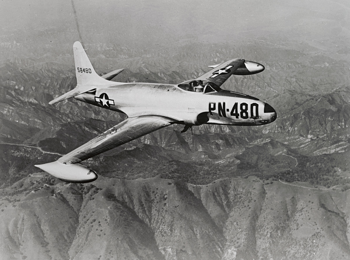 "Американски ловец Lockheed F-80 ""Shooting Star""."