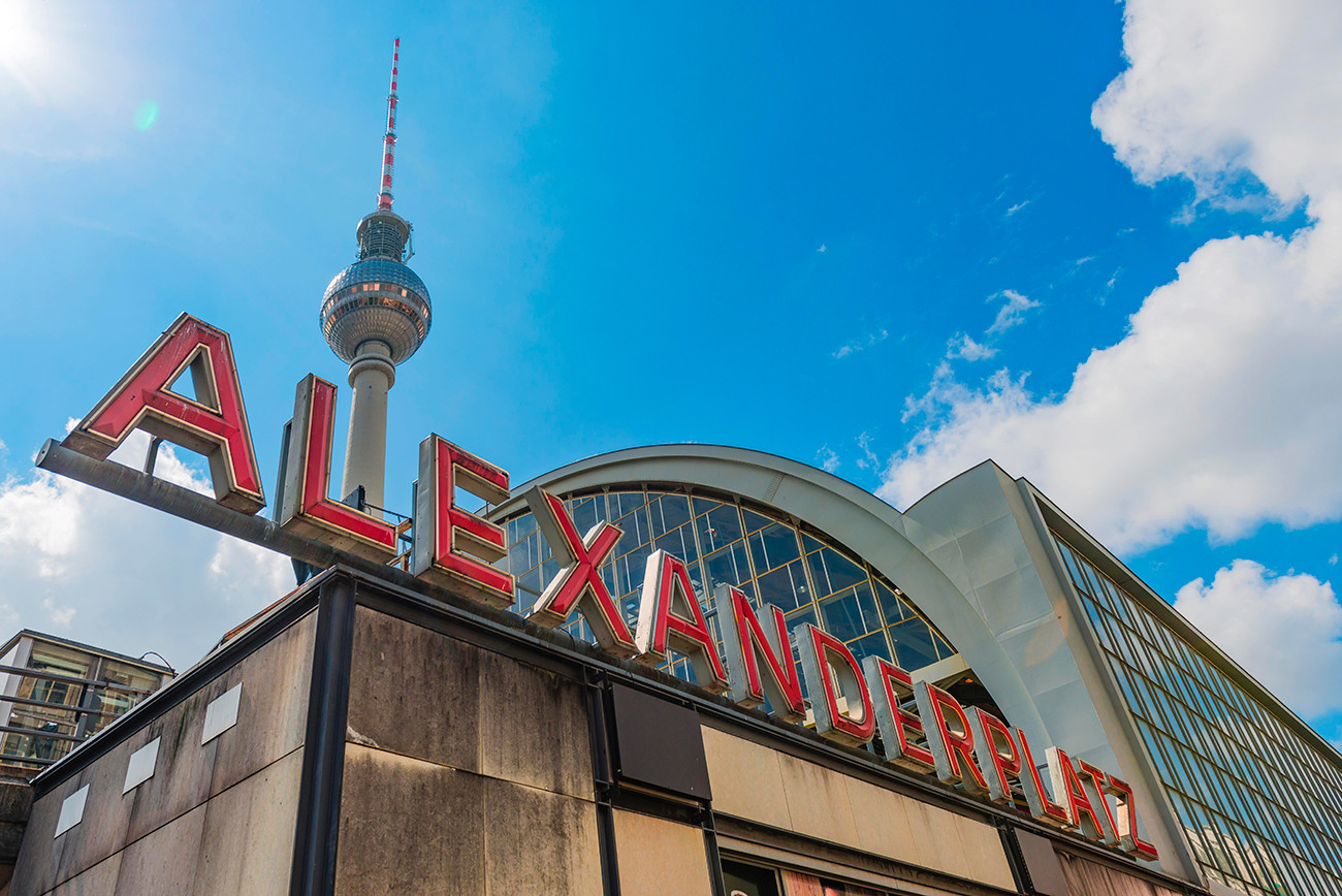 Alexanderplatz, em Berlim.