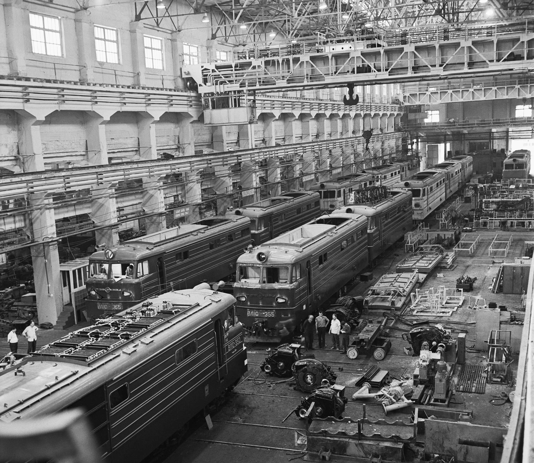 Tovarna vlakov v Novočerkasku, iz katere se je porodilo jedro protesta leta 1962