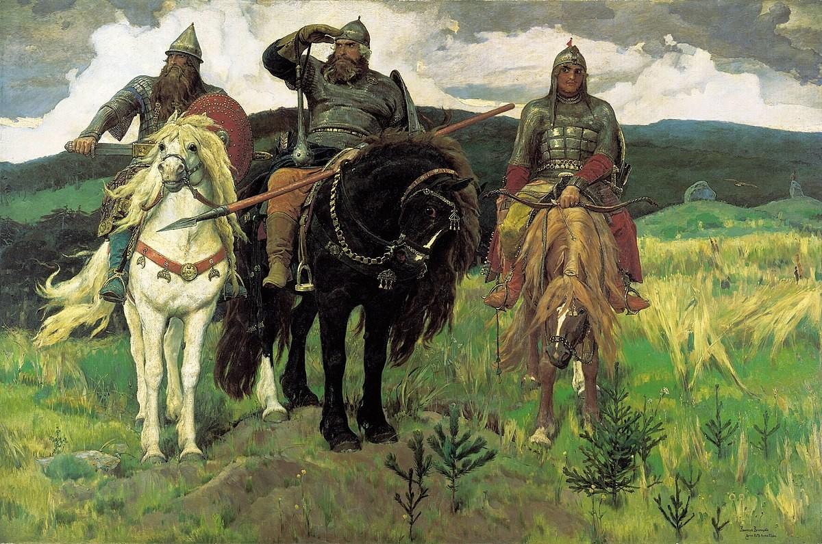 Die drei Recken (Bogatyr) von Wiktor Wasnezow, 1898