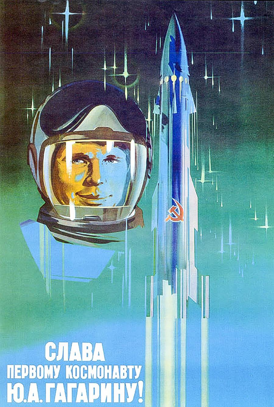 «Gloire au premier cosmonaute Iouri Gagarine!»