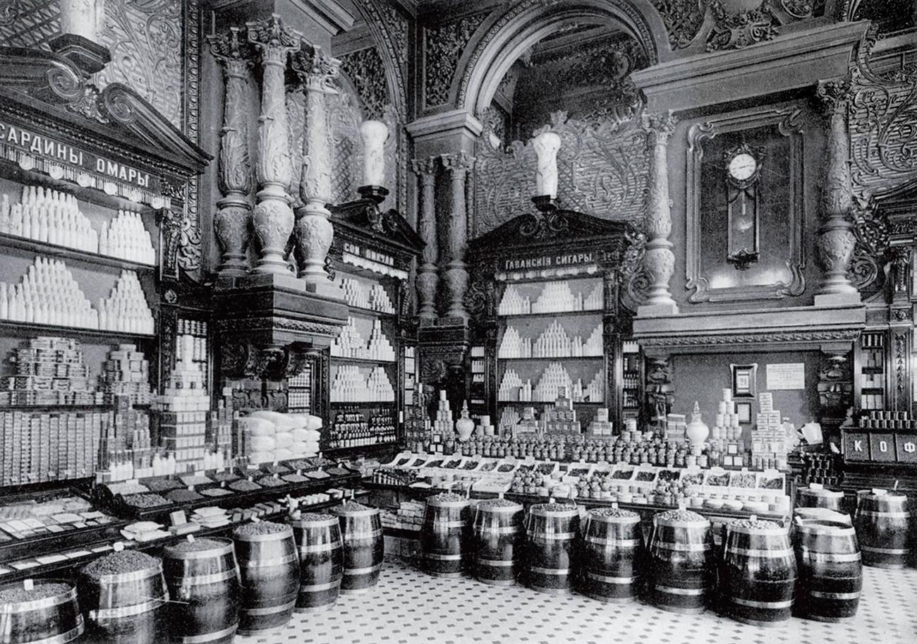 A loja Eliseievski em 1913.