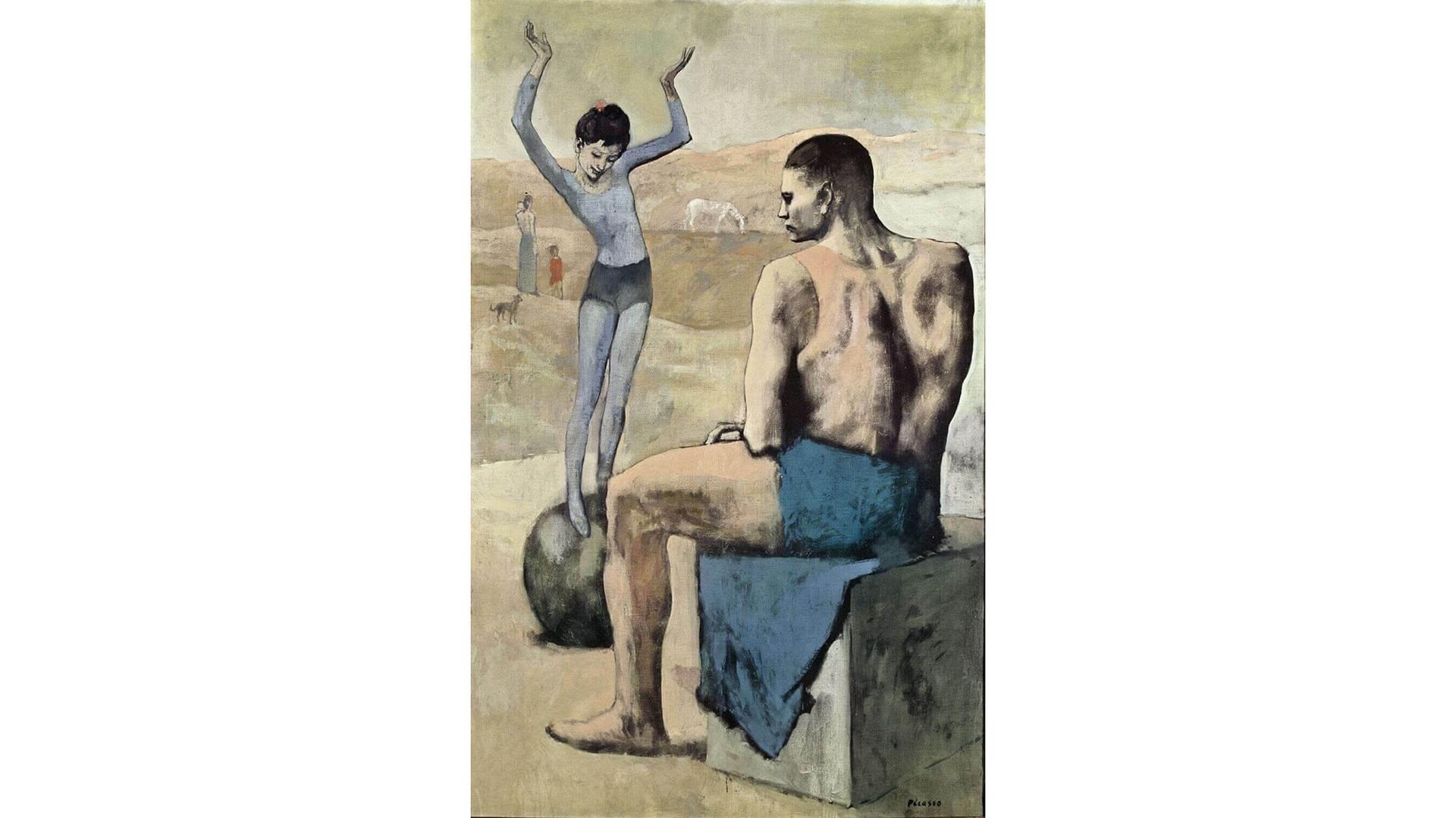 'La acróbata de la bola', de Pablo Picasso.