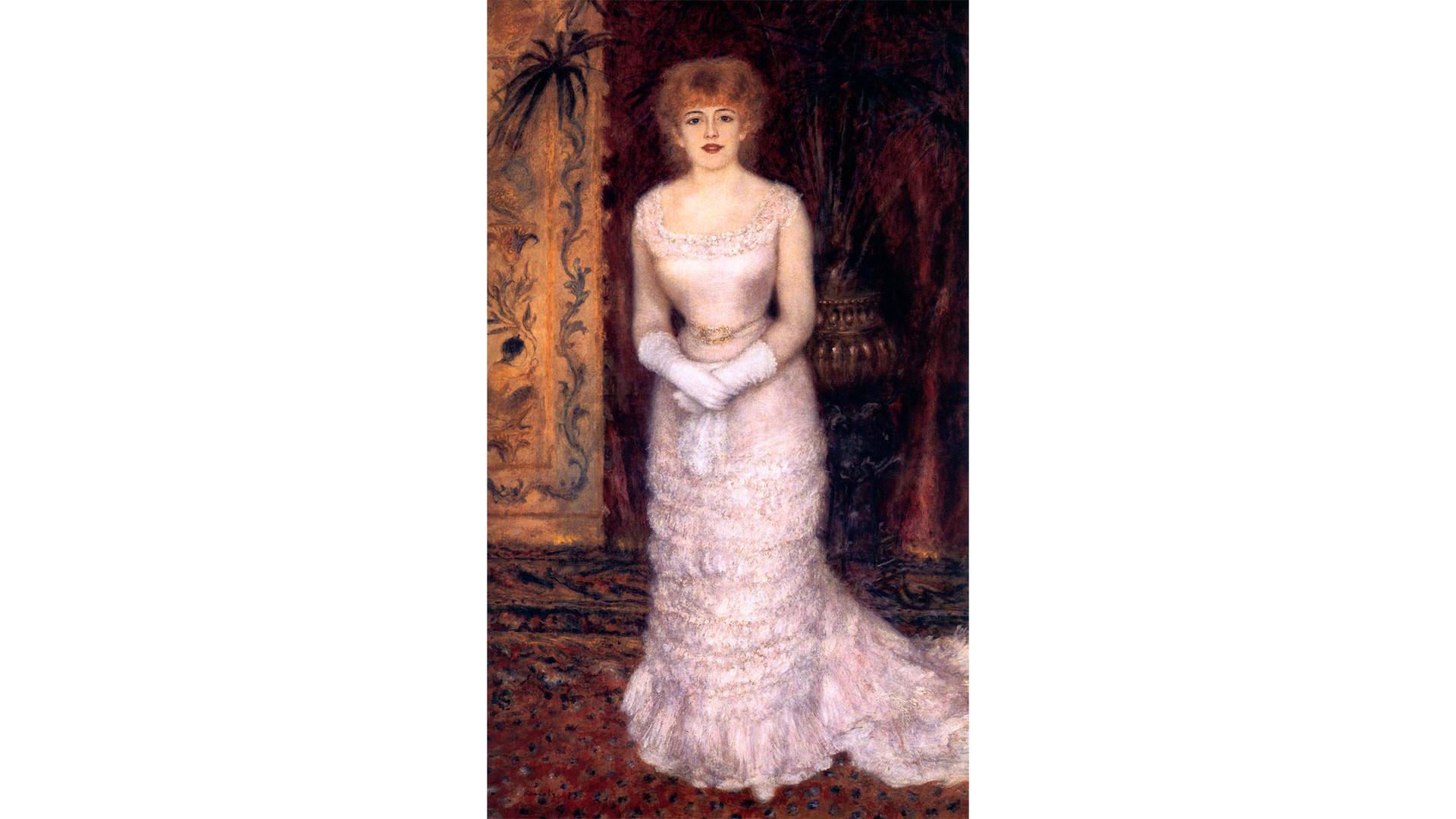 'Jeanne Samary con vestido escotado', de Pierre-Auguste Renoir.
