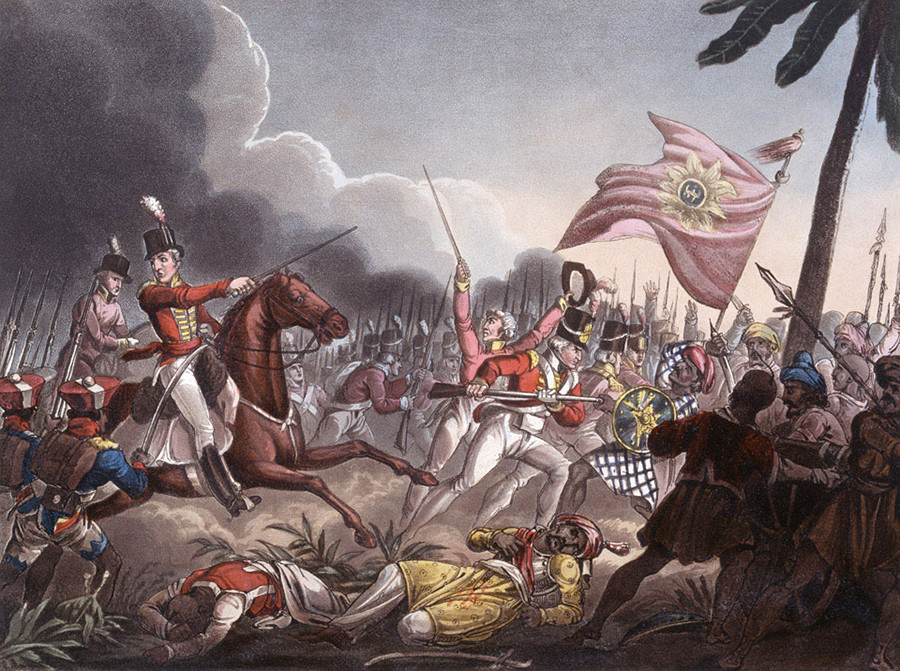 Troops of the East India Company at the Battle of Assaye (1803)