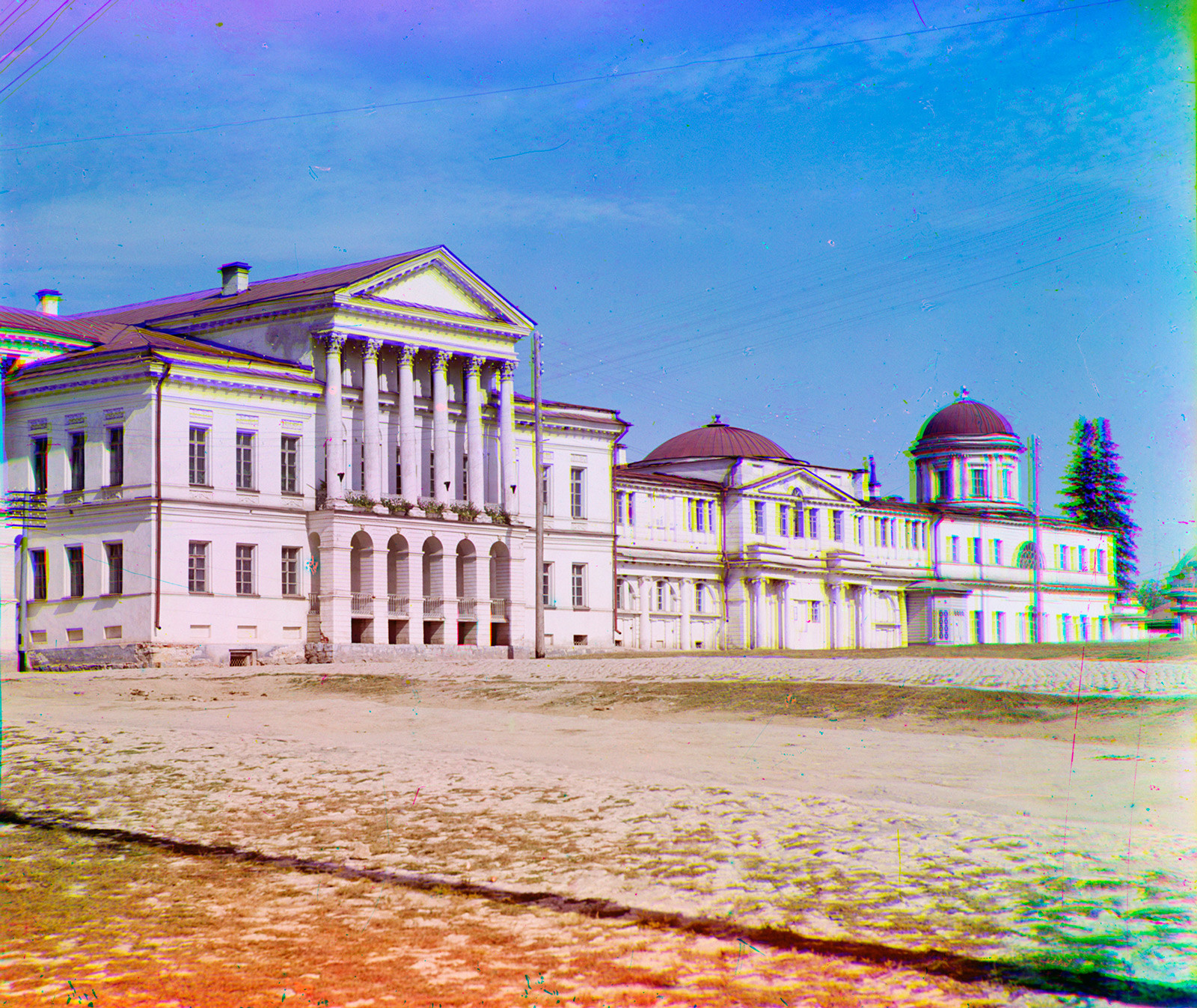 Rastorguev-Kharitonov Mansion, main facade. Summer 1909.