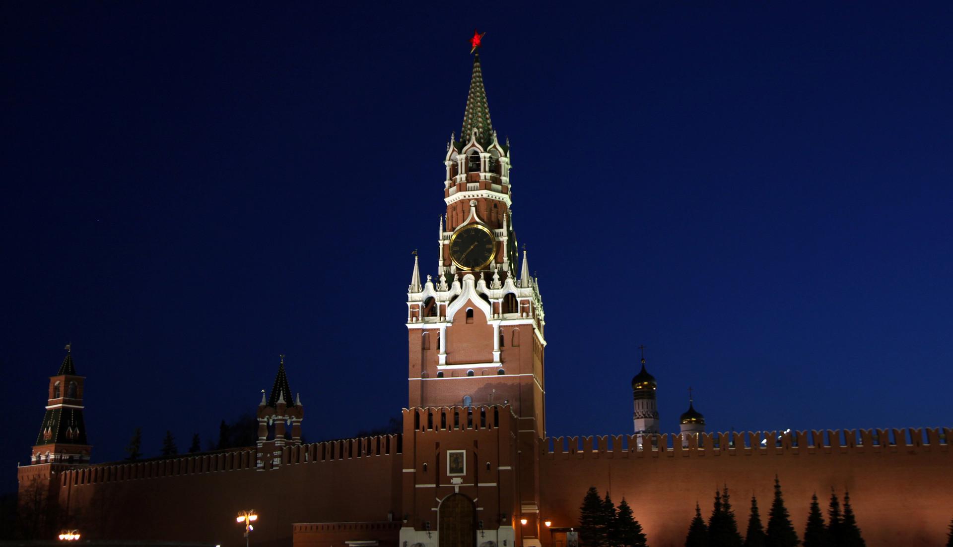 Kremlin sebelum pemadaman lampu.