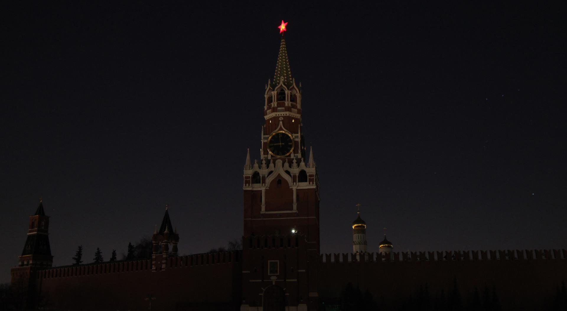 Kremlin saat pemadaman lampu.