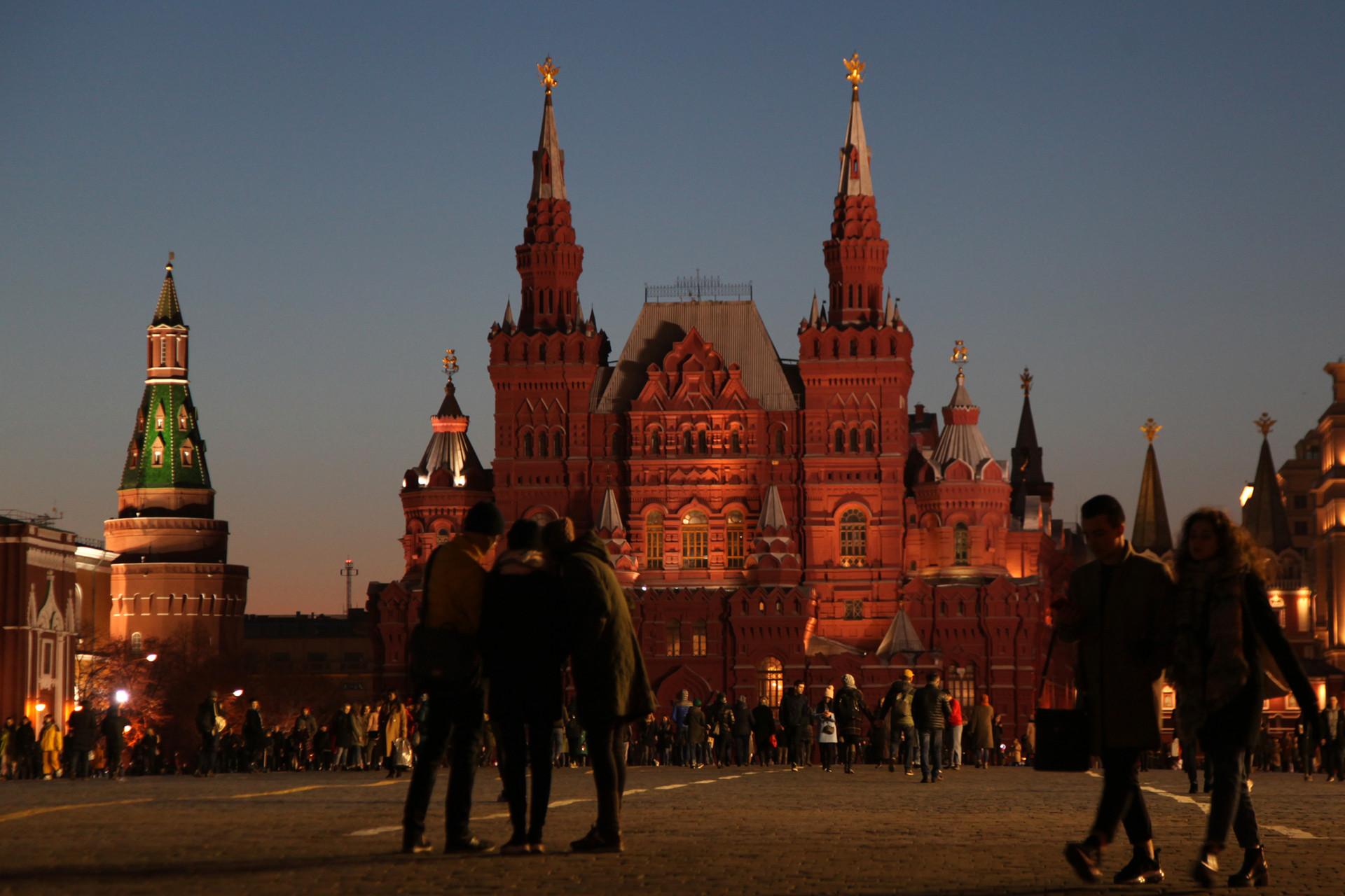 Museum Sejarah Rusia sebelum pemadaman lampu.