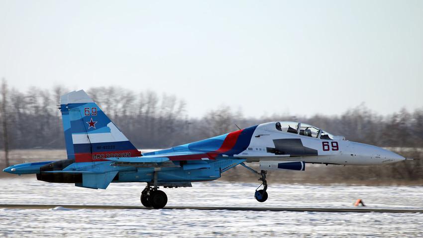 Caza Su-30.