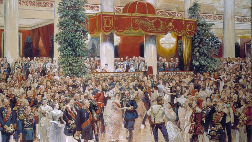 Ples v čast dinastije Romanov, slika je simbolična
