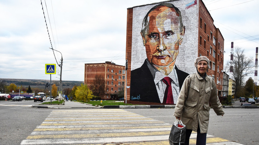 V mestu Kašira, Rusija, oktober 2017