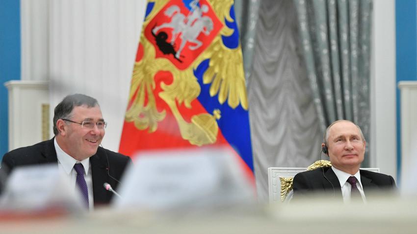 Patrick Pouyanné et Vladimir Poutine
