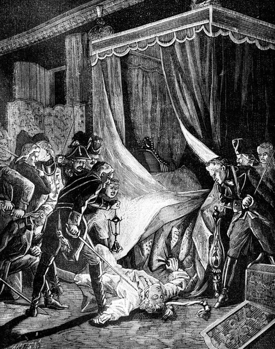 O Assassinato do tsar Pável 1°.