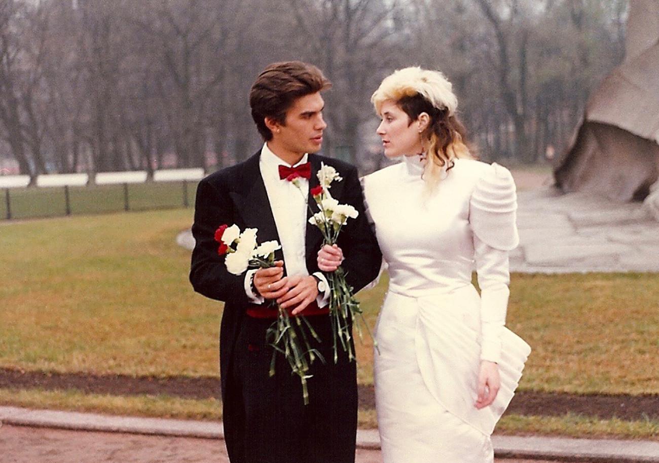 Joanna mit ihrem ersten Ehemann Juri Kasparjan