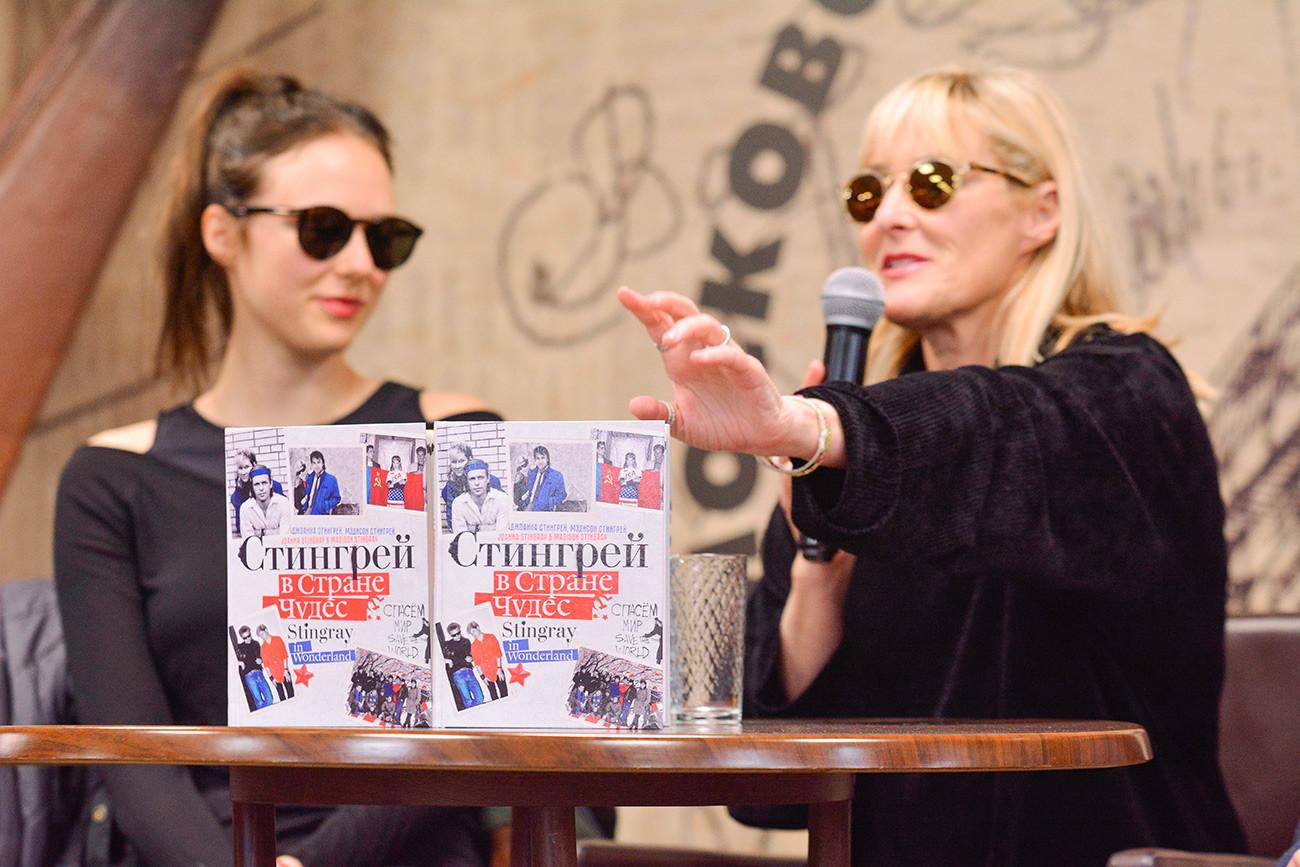 Während der Buchvorstellung in Moskau am 1. April 2019