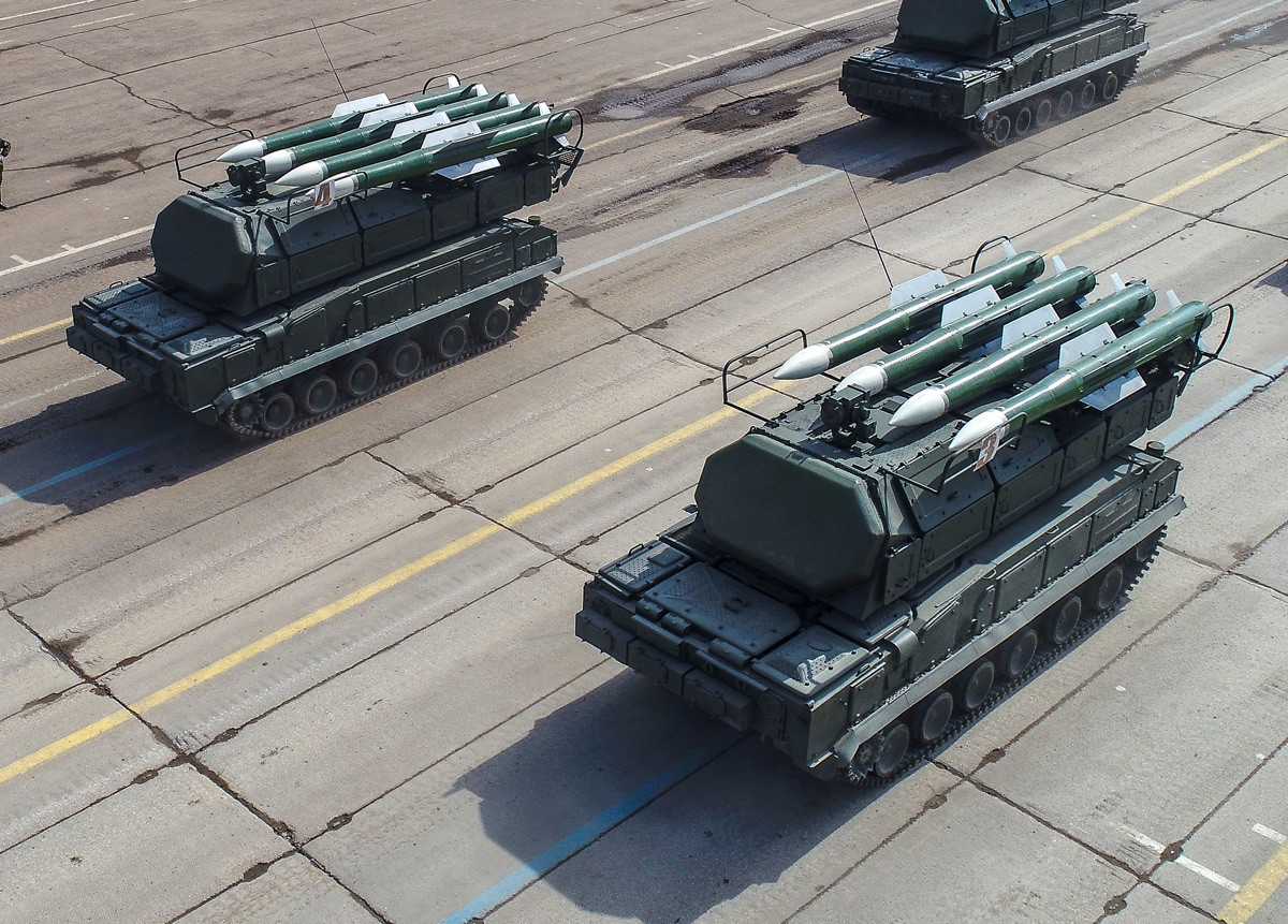 Sistema de misiles Buk-M2 en Alábino.