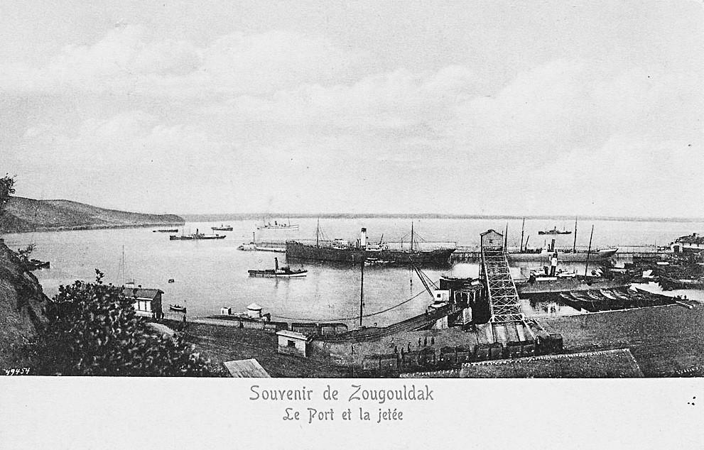 Porto otomano de Zonguldak.