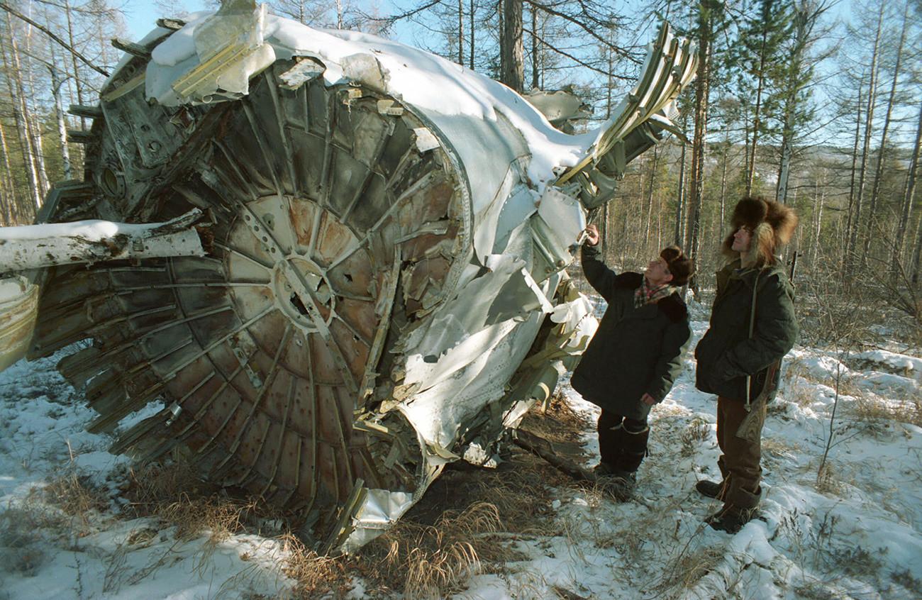 Local da queda de um TU-104.