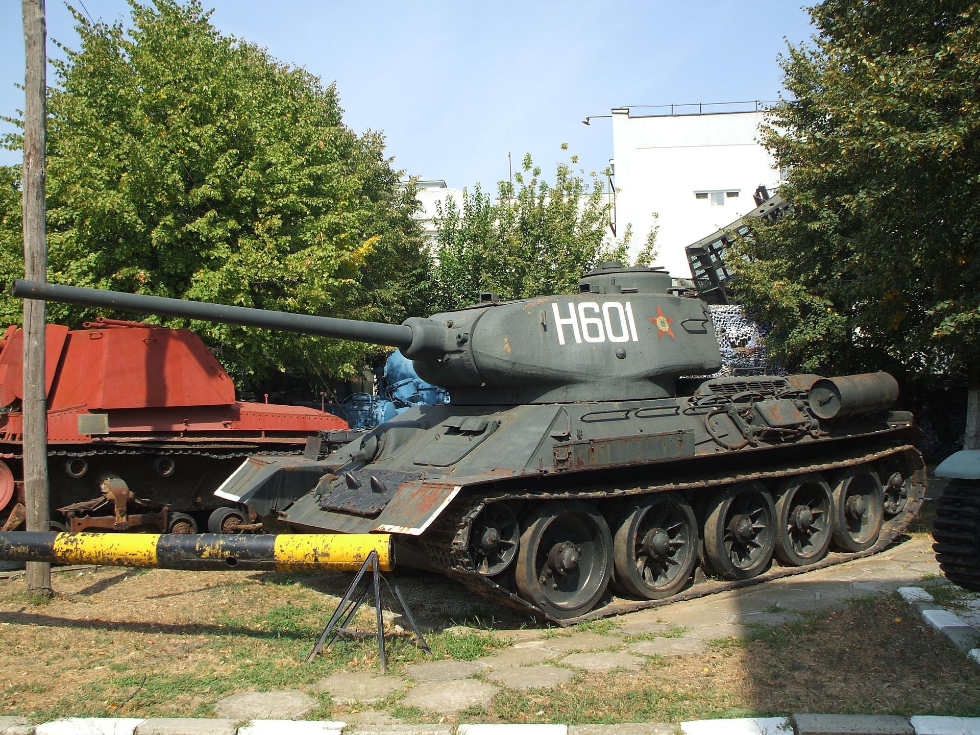 T-34 en el Museo Militar Nacional Rey Ferdinand de Bucarest.
