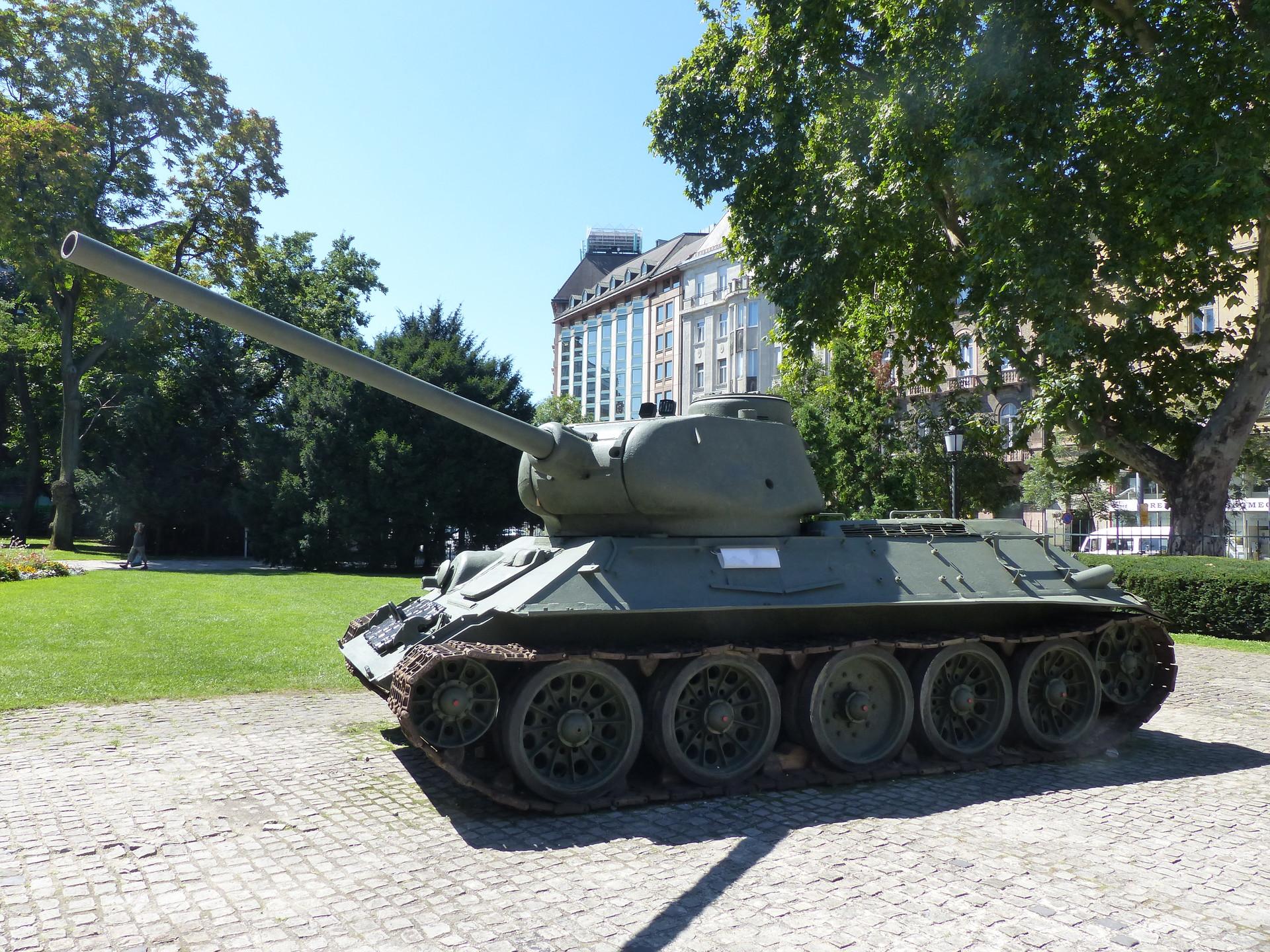 T-34 en el Museo Nacional Húngaro.
