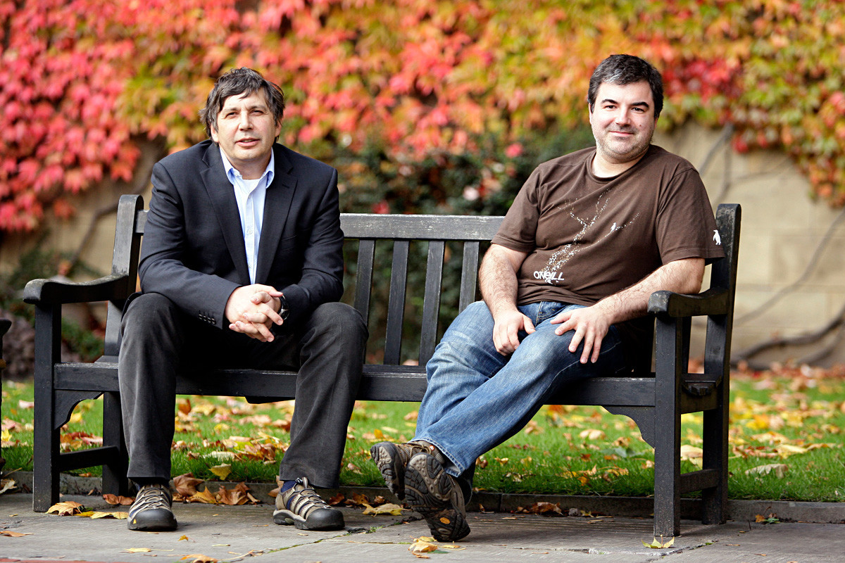 Andre Geim (left) and Konstantin Novoselov.