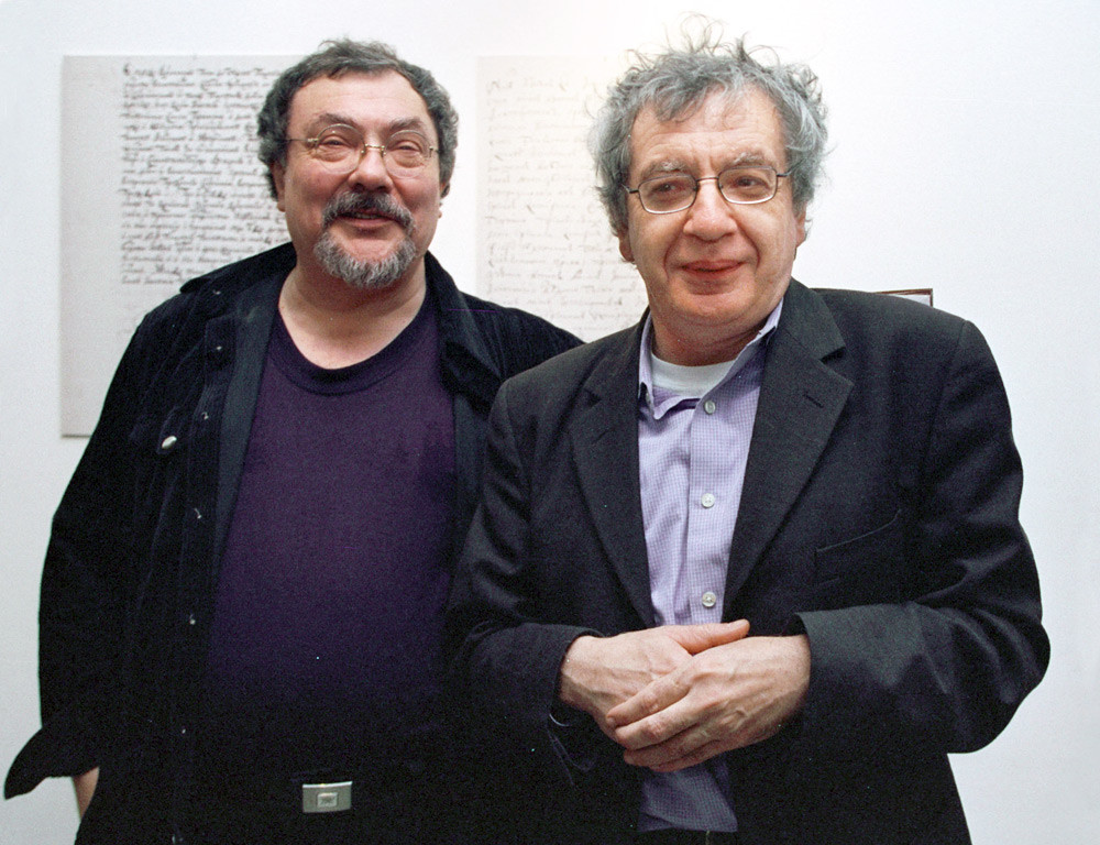 Vitaly Komar (L) and Alexander Melamid, 2002