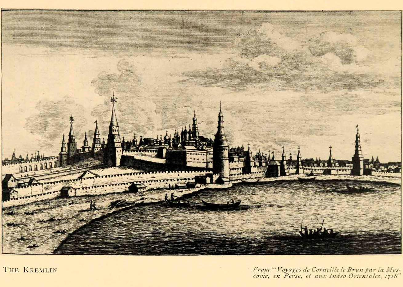 'El Kremlin' (1718), obra de Cornelis de Bruijn.