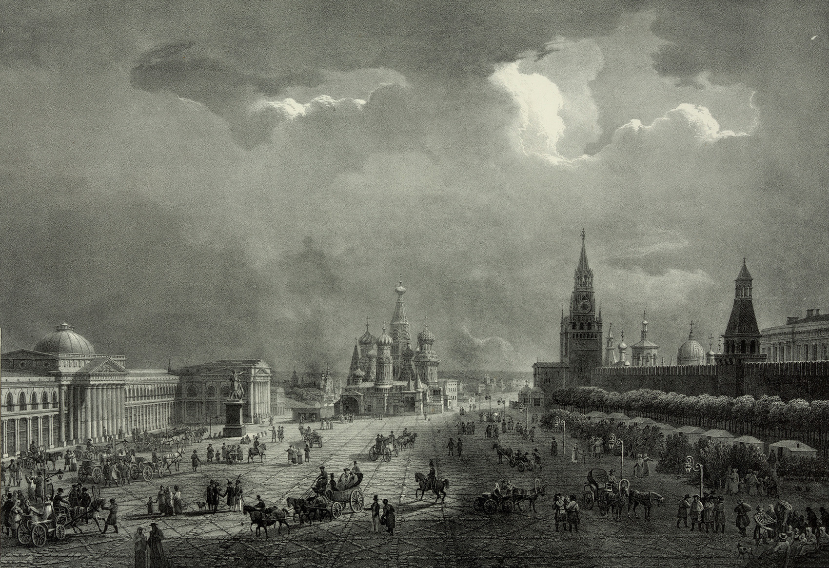 Plaza Roja, 1830.