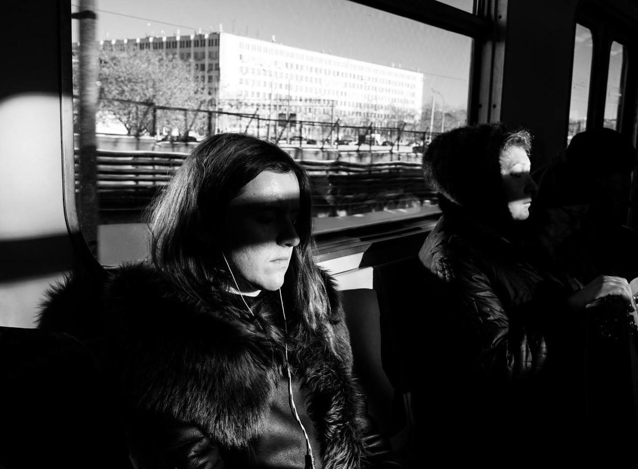 Metro nad tlemi med postajama Tekstilščiki in Volgogradski prospekt, januar 2017