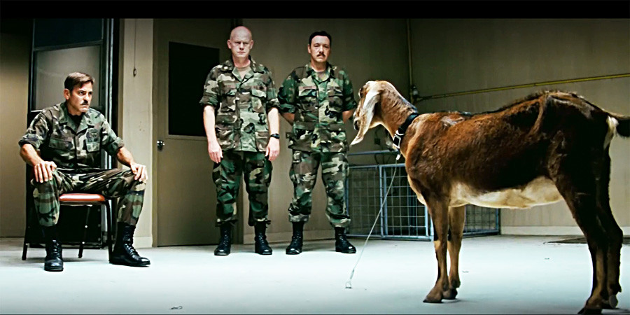 Soldiers from The Men Who Stare At Goats movie might also be great parapsychologists.