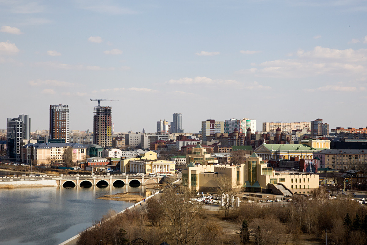 Chelyabinsk, the view from above.