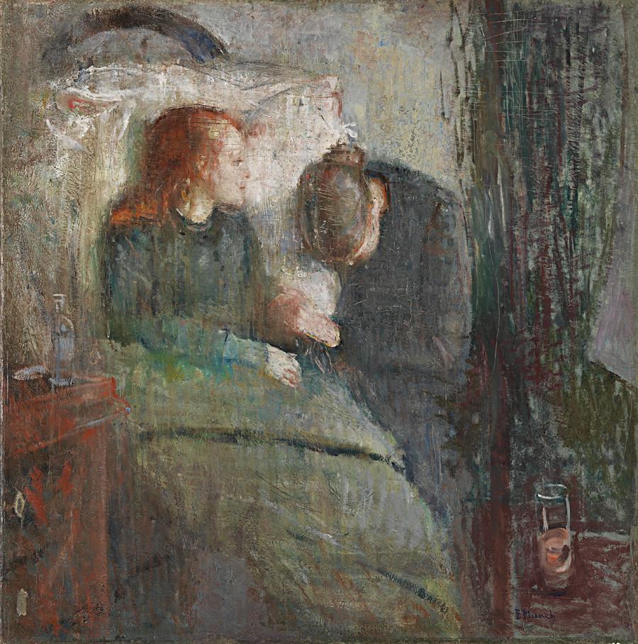 エドヴァルド・ムンク。「病気の少女」、1885-1886。