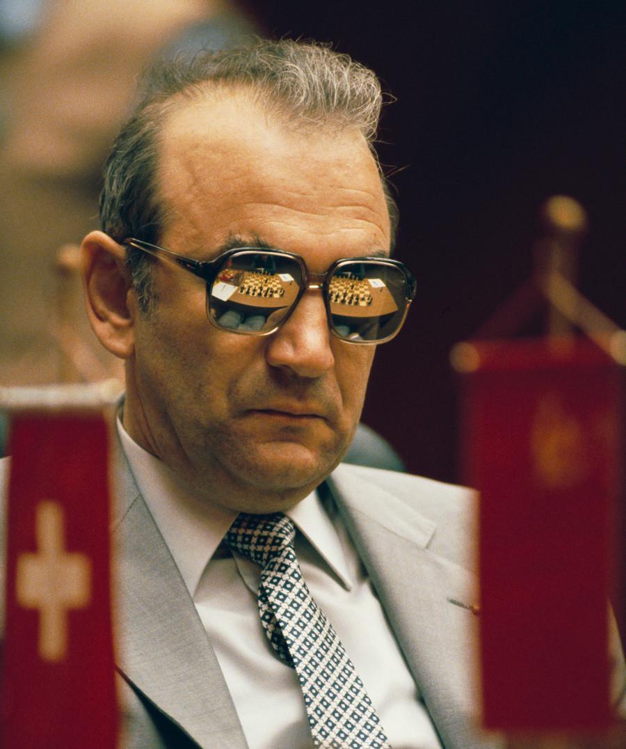 Korchnoi in Merano in 1981, his last major game against Karpov.