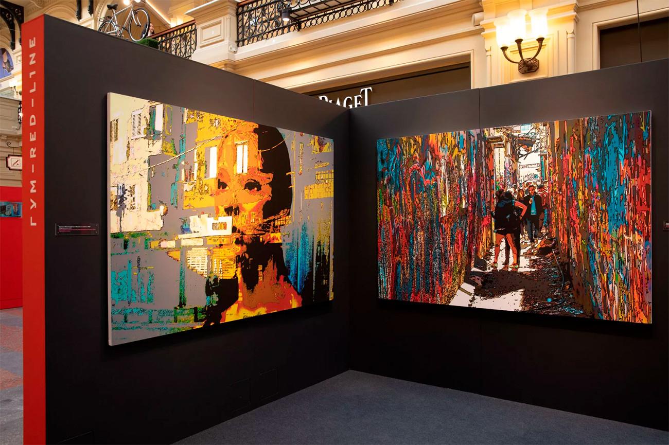 """Semyon Faibisovich. """"Il manichino al tramonto"""" (a sinistra), """"Escursione"""" (a destra), dal progetto """"Metamorfosi"""", 2019"""