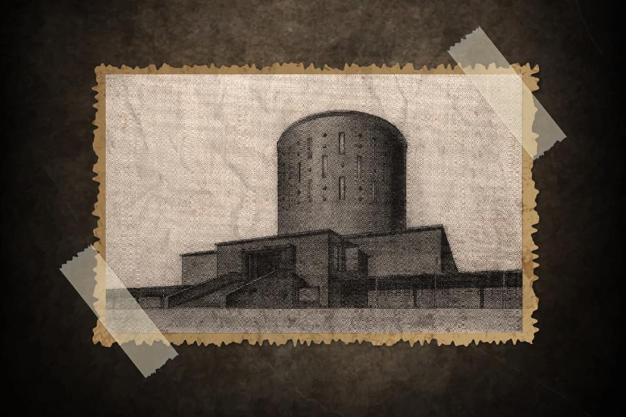 Desain pemenang untuk proyek krematorium di Sankt Peterburg.